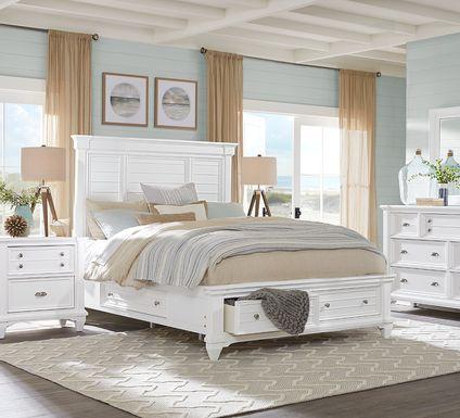 Hilton Head White 7 Pc Queen Storage Bedroom