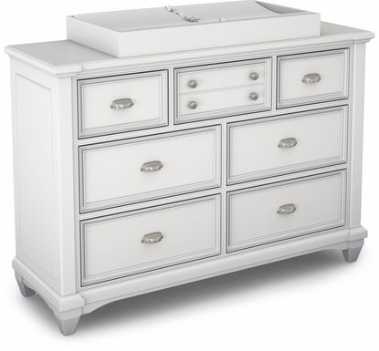 Hilton Head White Dresser with Changing Topper and Pad