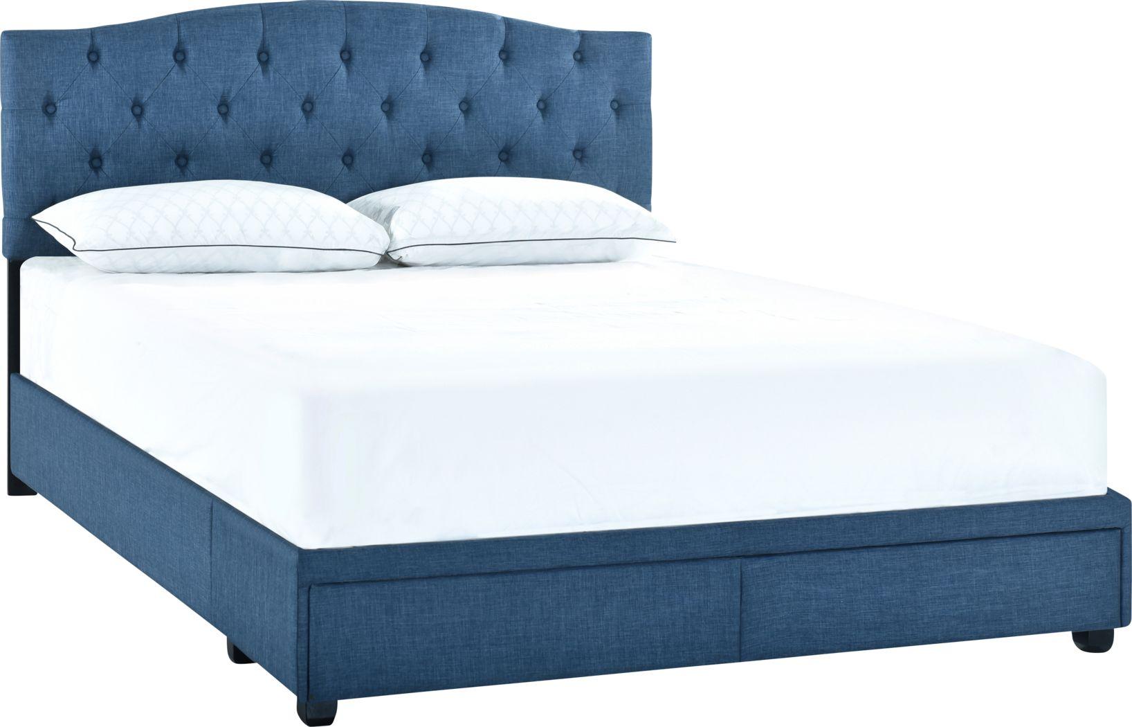 Hinesville Blue Queen Bed