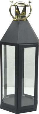 Holbeck Black Large Indoor/Outdoor Lantern