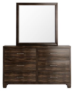 Holdens Ridge Charcoal Dresser & Mirror Set