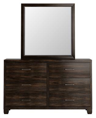 Holdens Ridge Charcoal Dresser & Mirror Set
