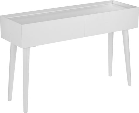 Holmeswood White Console Table