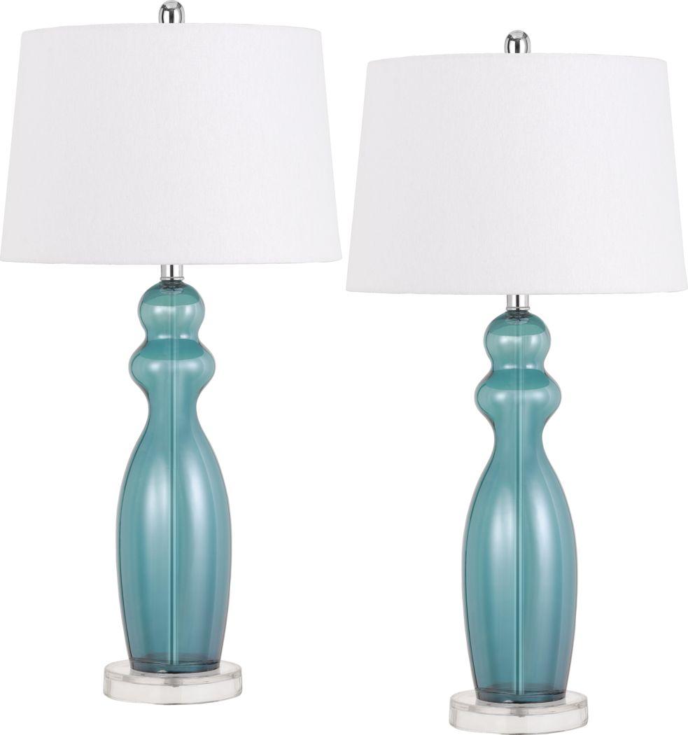 Hopedale Blue Lamp, Set of 2