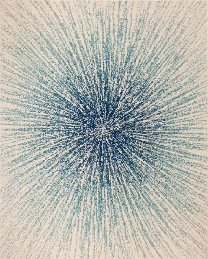Horizon Sunburst Blue 8' x 10' Rug