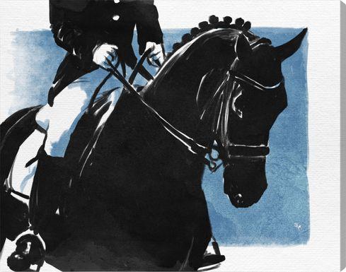 Horseback Rider Black Artwork