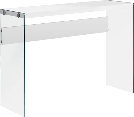 Housely White Console Table
