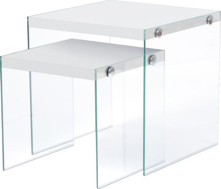 Housely White Nesting Tables
