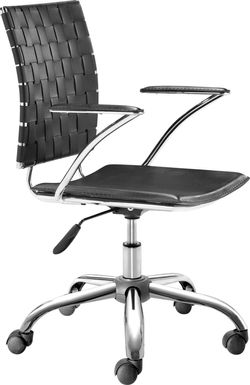 Hovey View Black Desk Chair