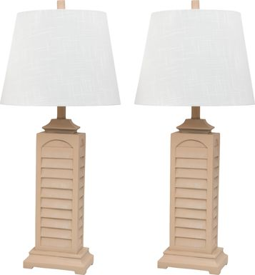 Greenlawn Yellow Lamp, Set of 2