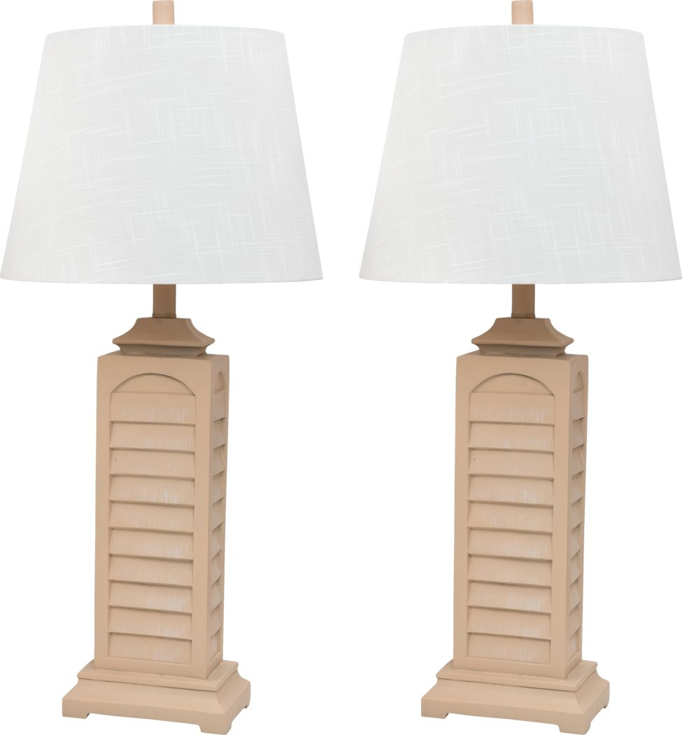 Greenlawn Yellow Lamp, Set of 2