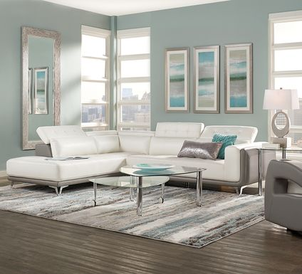Hudson Heights White 2 Pc Sectional