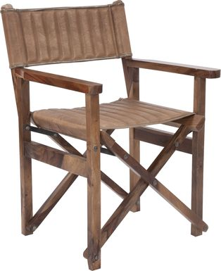 Huguenot Brown Accent Chair