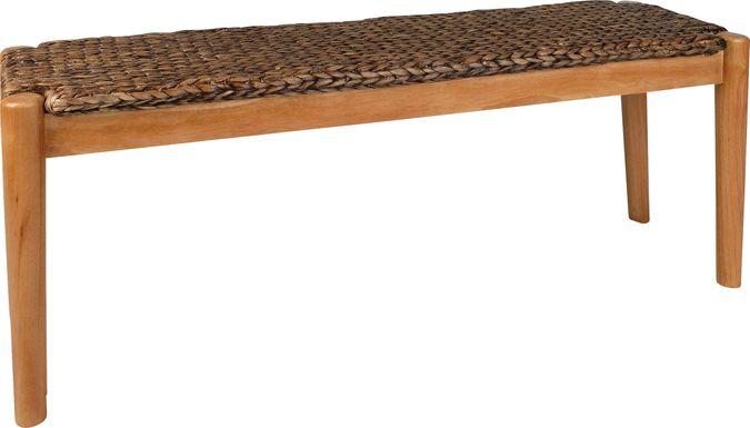 Hurlingham Brown Accent Bench