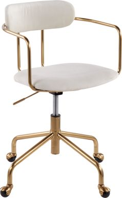 Hyalite Cream Office Chair