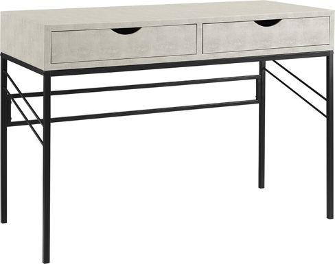 hyridge white desk