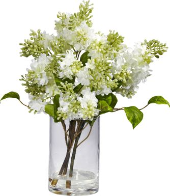 Idania Green Lilac Silk Floral