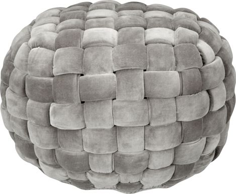 Illion Gray Pouf