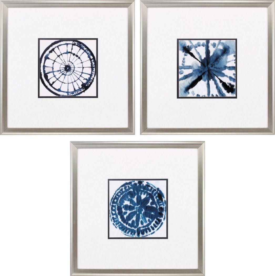 Indigo Accents Set of 3 Artwork
