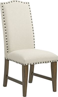 Industrial Court Oatmeal Side Chair