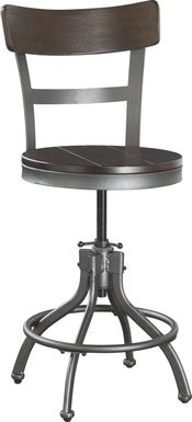 Industry Place Cherry Wood Back Adjustable Counter Height Stool