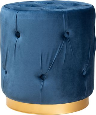 Inona Blue Ottoman