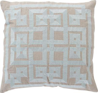Intersected Geometrics Aqua Accent Pillow