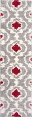 Irenee Red 2' x 7'2 Runner Rug