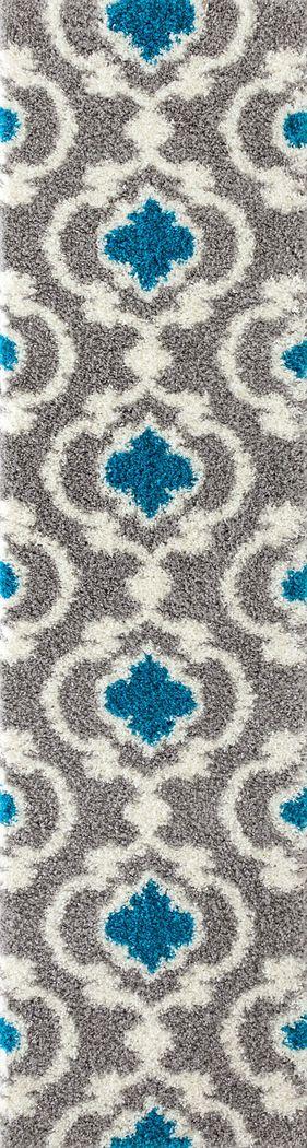 Irenee Turquoise 2' x 7'2 Runner Rug