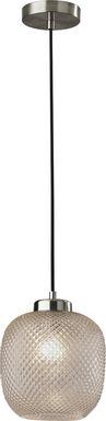Iroquois Loop Brushed Steel Pendant
