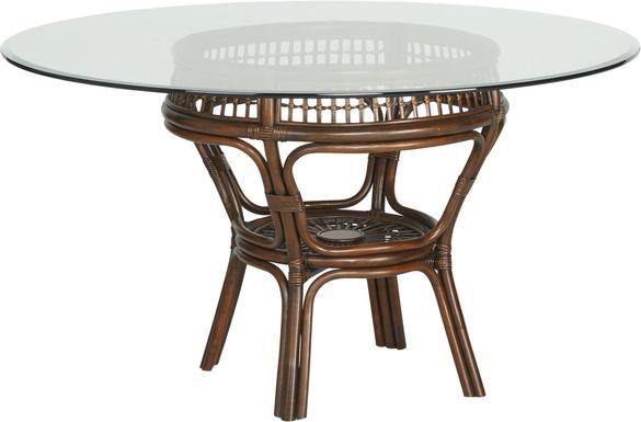 Island Sunrise Brown Rattan Dining Table