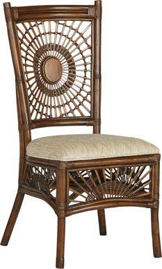 Island Sunrise Brown Side Chair