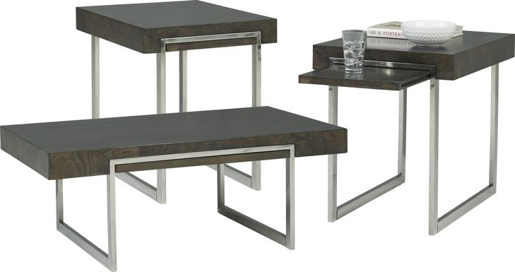 Isleen Gray 3 Pc Table Set