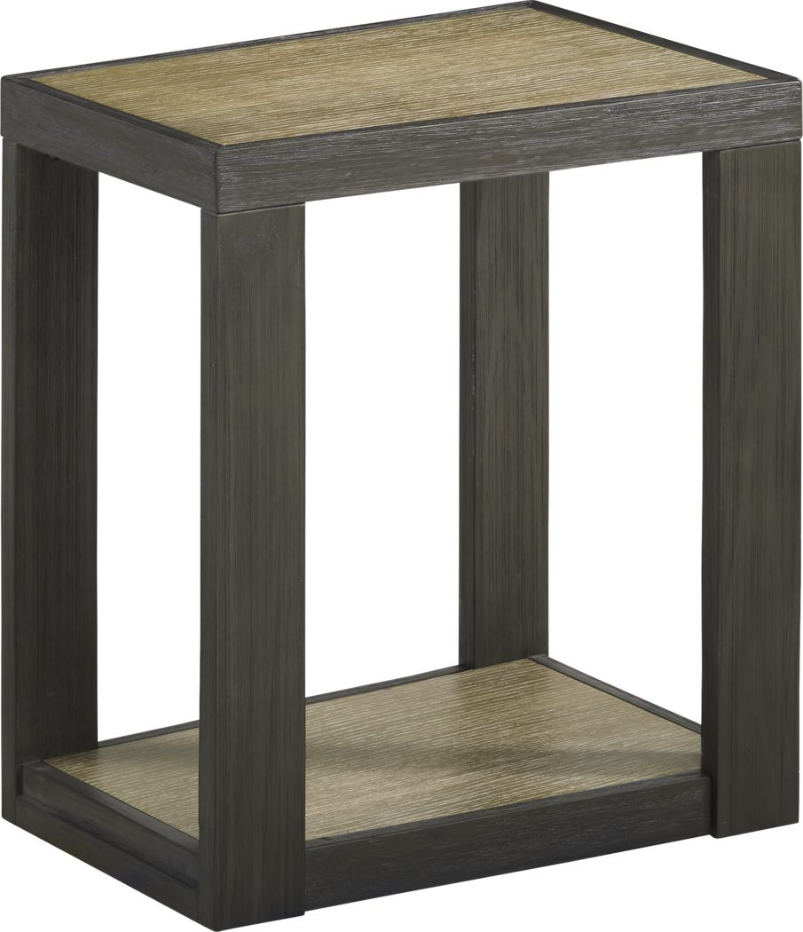Isley Dark Brown Chairside Table