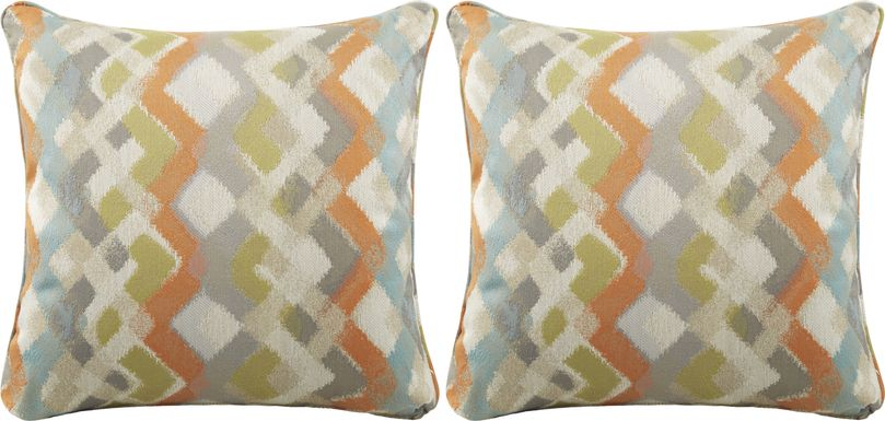 iSofa Bippy Jambalaya Accent Pillows (Set of 2)