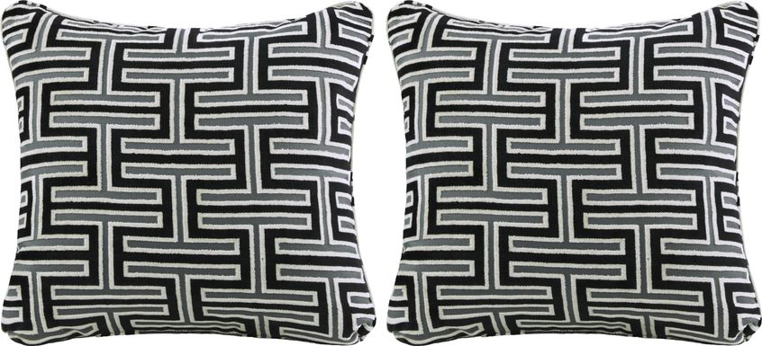 iSofa Carlyle Caviar Accent Pillows (Set of 2)