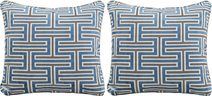 iSofa Carlyle Indigo Accent Pillows (Set of 2)