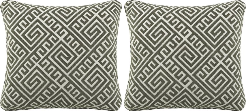 iSofa Cyrus Graphite Accent Pillows (Set of 2)