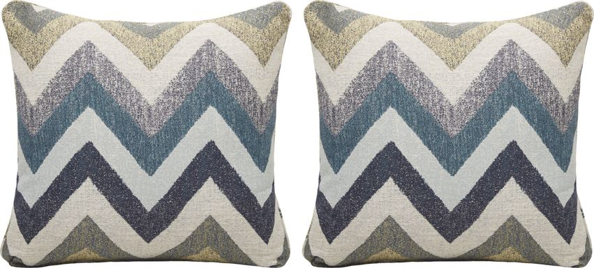 Fast Track Beach Glass Accent Pillow (Set of 2)