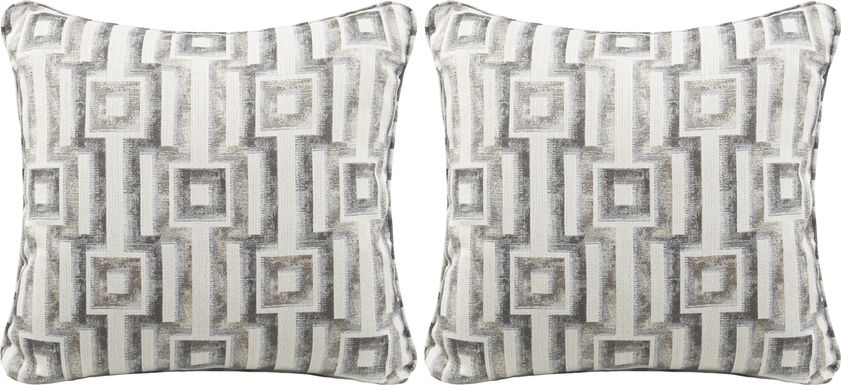 iSofa Hera Stone Accent Pillows (Set of 2)