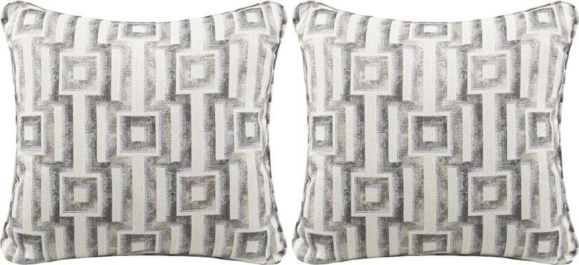 iSofa Hera Stone Accent Pillows (Set of 2)