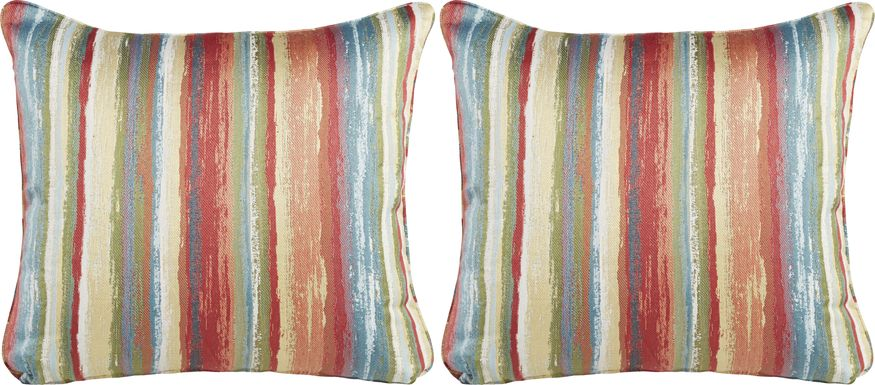 iSofa Painterly Stripe Accent Pillows (Set of 2)