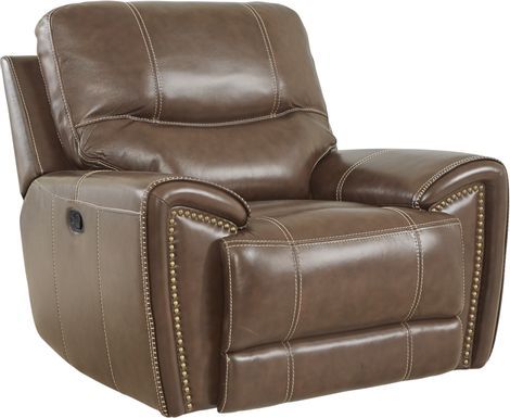 Italo Brown Leather Recliner