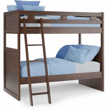 Ivy League 2.0 Walnut Twin/Twin Bunk Bed