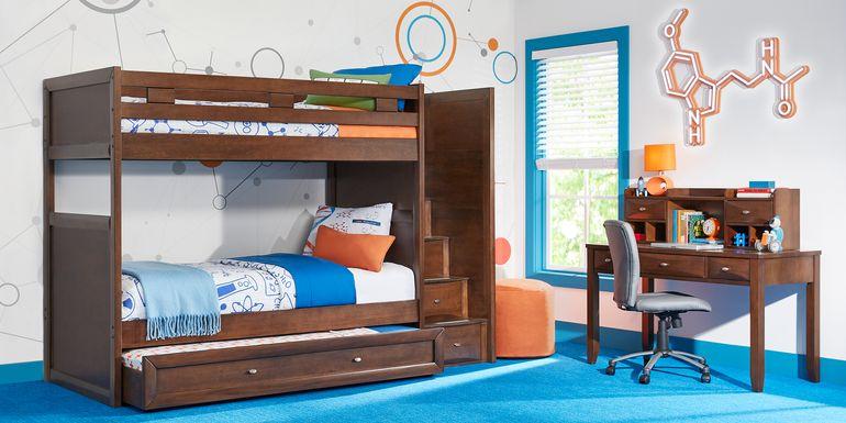 Ivy League 2.0 Walnut Twin/Twin Step Bunk Bed