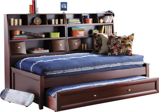 Ivy League Cherry 5 Pc Full Bookcase Daybed