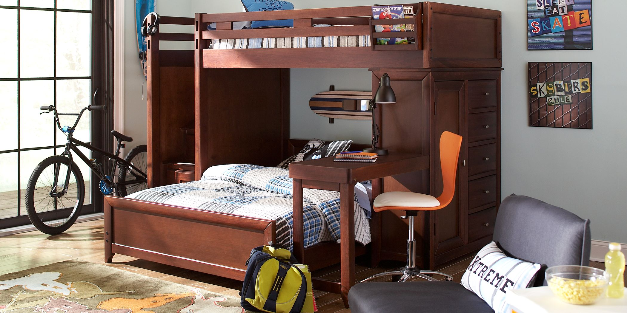 ivy-league-cherry-twin-full-step-loft-bunk-with-chest-and-desk