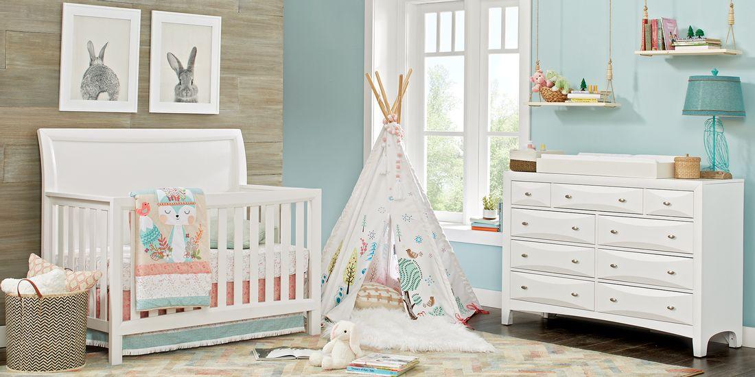 traditional kids white bedroom set