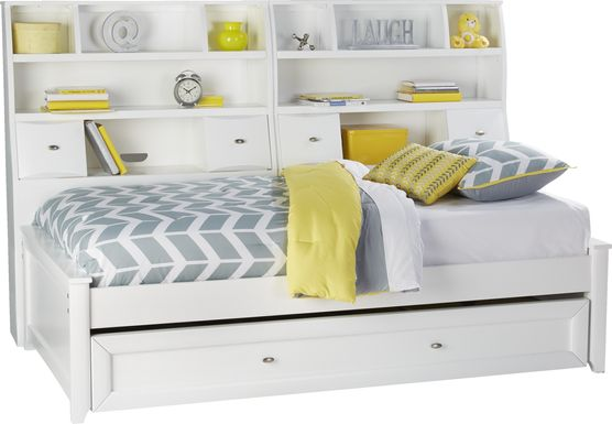 Ivy League White 5 Pc Twin Bookcase Daybed