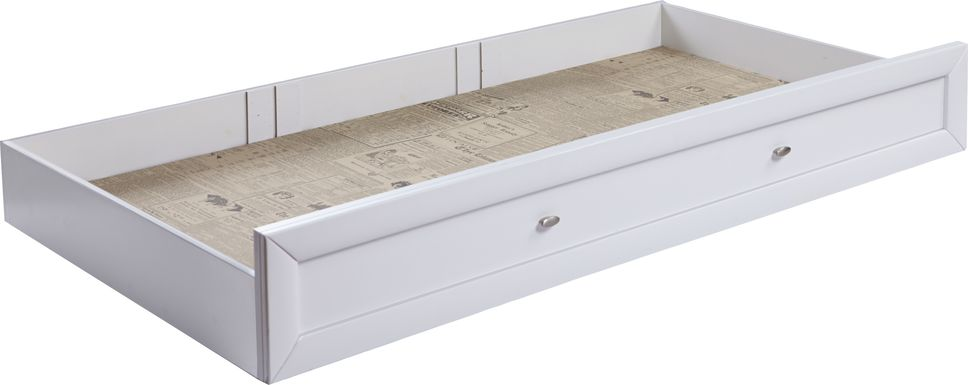 Ivy League White Twin Storage Trundle